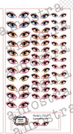 Olhos Adesivos 016