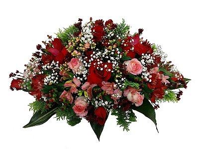 Centro de Mesa com rosas