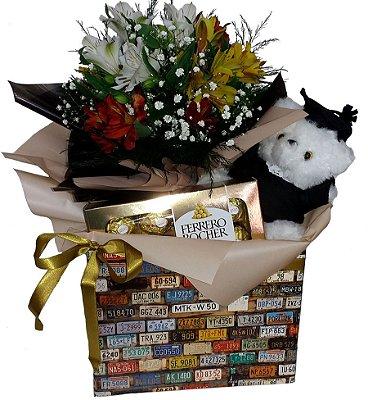 Caixa Formatura com Flores