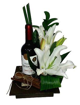 Lírios e vinho