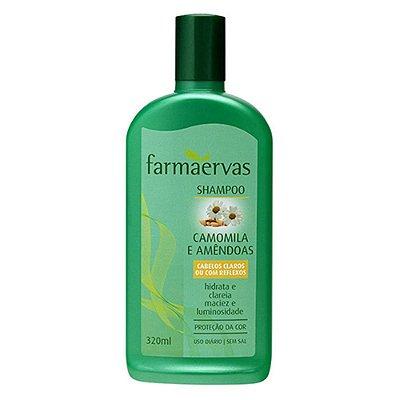 FARMAERVAS SHAMPOO CAMOMILA E AMÊNDOAS CABELOS CLAROS 320ML
