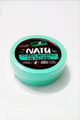 NATURAL MESSENGER PÓ DENTAL ANTISSÉPTICO COM JUÁ E MENTA 10g