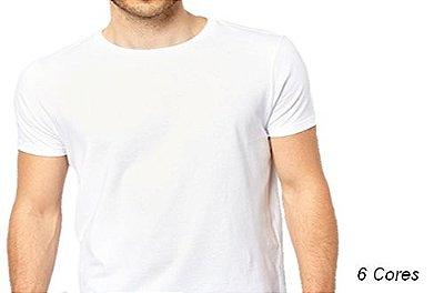 Camiseta Gola Básica Masculina Lisas & Limitadas Manga Curta