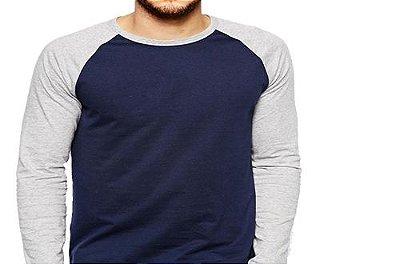 Camiseta Gola Raglan Masculina Modelo 8 Manga Longa