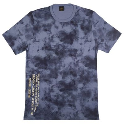 Camiseta Gola Básica Masculina Marmorizada Manga Curta