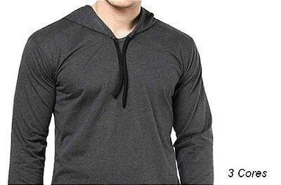 Camiseta Gola com Capuz Modelo 3 Masculina Manga Longa