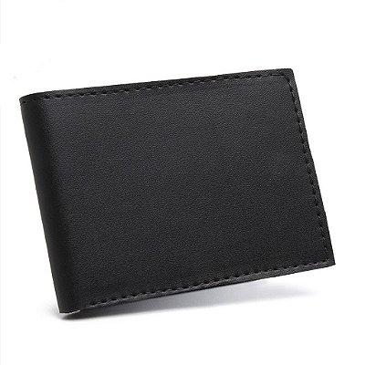 Carteira/Porta Cartão Masculino em Couro Ecológico Minimalista
