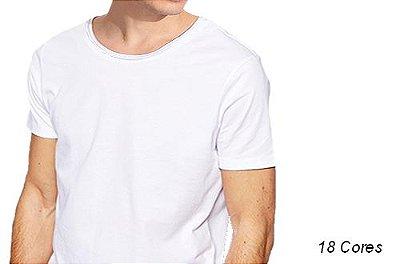 Camiseta Gola Canoa Masculina Manga Curta