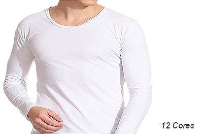 Camiseta Gola Canoa Masculina Manga Longa