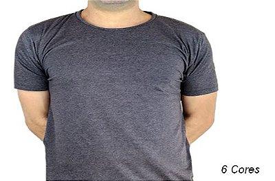 Camiseta Gola Básica Masculina Mescladas & Rajadas Manga Curta