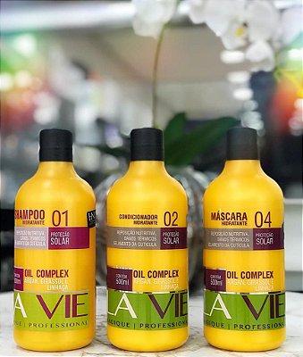 KIT SHAMPOO+ CONDICIONADOR + MASCARA OIL COMPLEX LA VIE