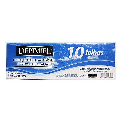 LENÇO DESCARTÁVEL PARA DEPILAÇÃO DEPIMEL 10 FOLHAS