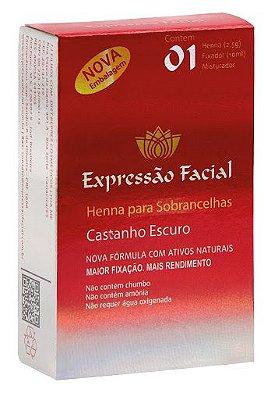 HENNA EXPRESSÃO FACIAL CASTANHO ESCURO