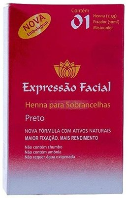 HENNA EXPRESSÃO FACIAL PRETO