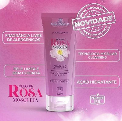 SABONETE FACIAL ÓLEO DE ROSA MOSQUETA PHALLEBEAUTY 100ML