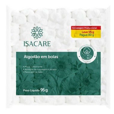 ALGODÃO EM BOLAS ISACARE-95G
