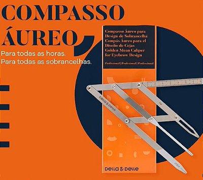 COMPASSO AUREO PARA DESIGN DE SOBRANCELHA DELLA E DELLE