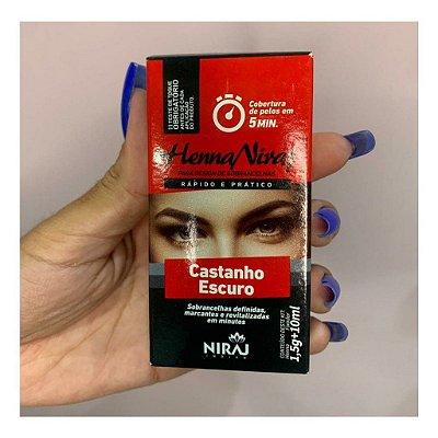 HENNA PARA SOBRANCELHA CASTANHO ESCURO1,5-HENNA NIRAJ