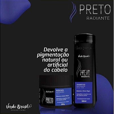 SHAMPOO + MÁSCARA MATIZADORA PRETO RADIANTE- VERDE BRASIL