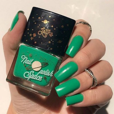 ESMALTE SPACE GREEN LATIKA