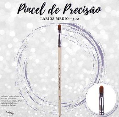 PINCEL DE PRECISÃO DE LÁBIOS MÉDIO M302  MICHELLY PALMA