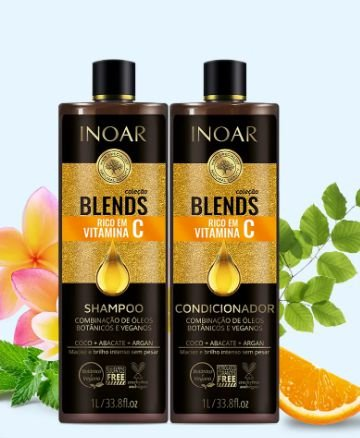 KIT BLENDS  SHAMPOO+CONDICIONADOR 1L INOAR