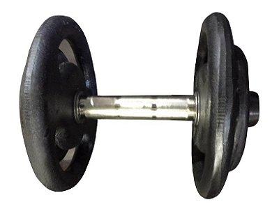 Dumbbell Pintado com pegada em aço inox - Opção a escolher a partir de 12 kilos até 40 kilos