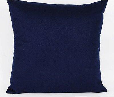 Capa de Almofada Sarja Lisa Azul Marinho- 45 x 45 cm
