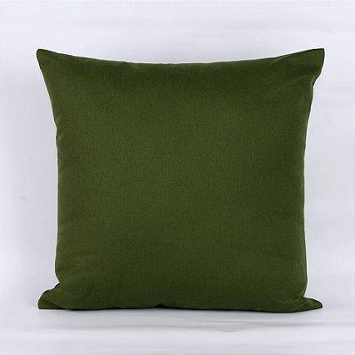 Capa de Almofada Sarja Lisa Verde Escuro- 45 x 45 cm