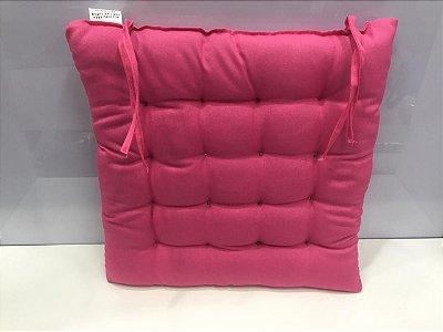 Assento para cadeira Futon-  Rosa 40 cm x 40 cm