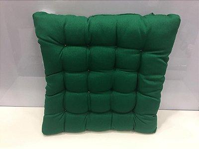 Assento para cadeira Futon-  Verde 40 cm x 40 cm