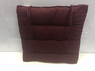 Assento para cadeira Futon-  Vinho 40 cm x 40 cm