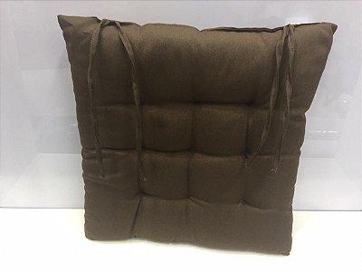 Assento para cadeira Futon-  Marrom  40 cm x 40 cm