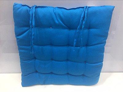 Assento para cadeira Futon-  Azul  40 cm x 40 cm