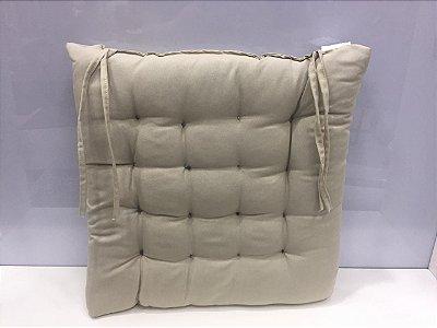 Assento para cadeira Futon-  Cinza  40 cm x 40 cm