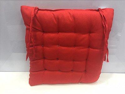 Assento para cadeira Futon-  Vermelho  40 cm x 40 cm
