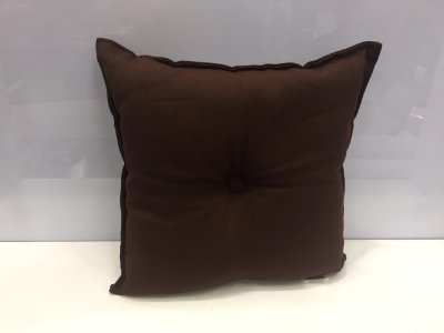 Almofada com Botão Marrom 35 cm x 35 cm