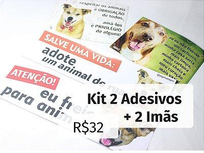 Kit 2 Adesivos + 2 Imãs