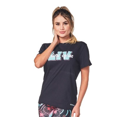 BLUSA ELEMENTOLIV CAMISETA LIV COLORS OF US - FULL BLACK