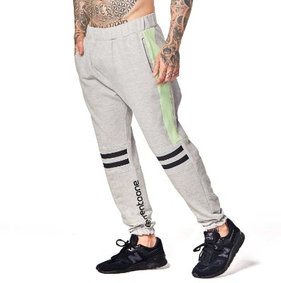 CALÇA ELEMENTOONE MOLETOM STRIP - GREY