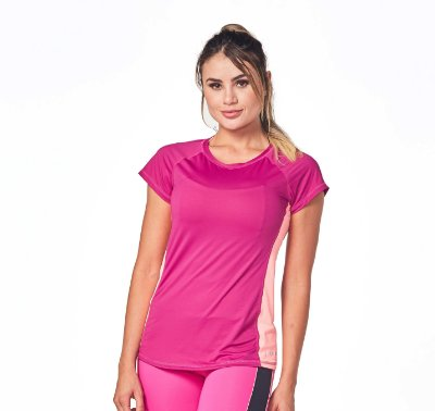 BLUSA ELEMENTOLIV DOUBLE COLORS - SHOCK PINK
