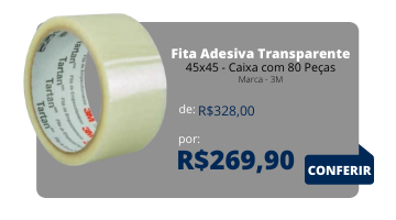 Fita Adesiva 45x45 - Caixa com 8 Peças - 3M