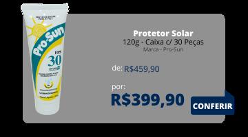 PROTETOR SOLAR FPS 30 - 120Grs PROSUN Caixa c/ 30 peças