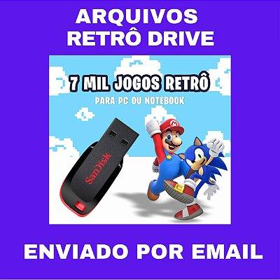 ARQUIVO RETRO DRIVE 7 MIL JOGOS PARA PC OU NOTEBOOK
