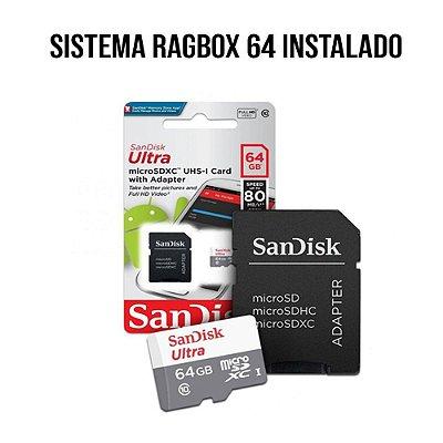 Cartão de Memória 64gb - com Sistema RAGBOX 64 Instalado