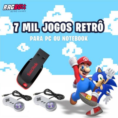 KIT RETRÔ DRIVE - 7 MIL JOGOS PARA PC OU NOTEBOOK WINDOWS 64BITS