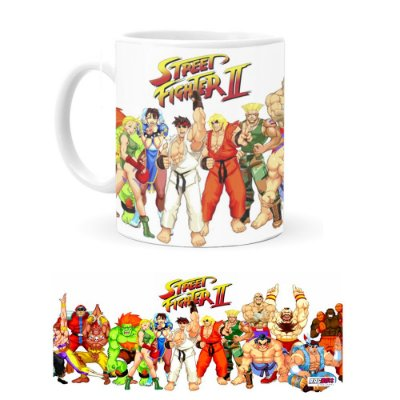 Caneca de Porcelana Street Fighter II