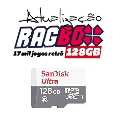Atualização RAGBOX 128GB - 17 Mil Jogos Retrô
