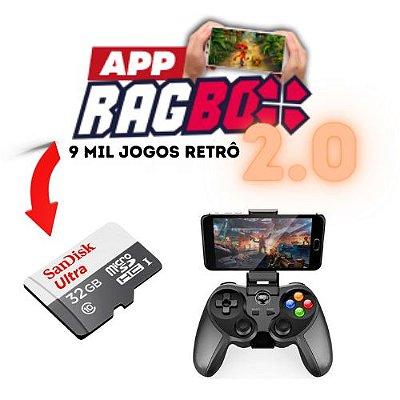 Kit Completo App RAGBOX 2.0 + Cartão 32gb + Controle Bluetooth Celular