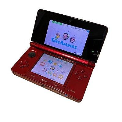 Console Nintendo 3DS Vermelho com 18 Jogos